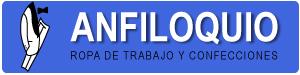 Logotipo de Anfiloquio, tienda de ropa de trabajo en Madrid